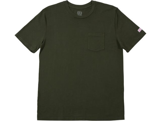 Topo Designs Camiseta Bolsillo Hombre, Oliva